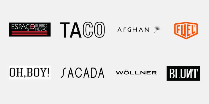 Logotipos dos parceiros do Moneri Marketplace